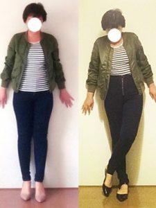 真似したい着痩せして見えるアイテムと春ファッションコーデ