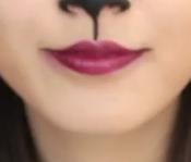 ハロウィンの大人可愛い猫メイク 口元