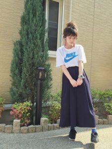 ガウチョorワイドパンツを使った春夏コーデで高校生でも大人っぽく