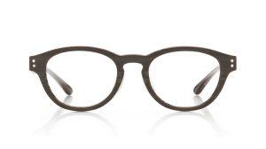 JINSのボストン型の伊達メガネ