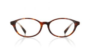 JINSのウェリントン型の伊達メガネ