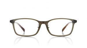 JINSのオーバル型の伊達メガネ