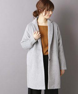 【natural couture】 シャギーグレーのチェスターコート