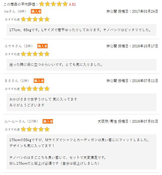 メンズファッションプラスのマネキン買いの評判・口コミ1