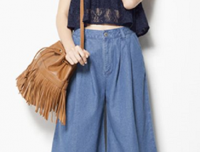 denim-gaucho-pants-coordination-summer