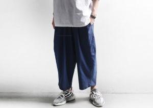 おすすめメンズブランド【minsobi】 ワイドリネンパンツ