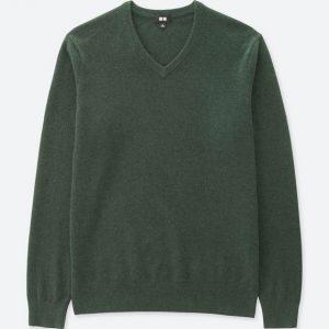 ユニクロの繊維の宝石カシミヤ100%セーター!
