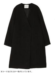 コートは選べる2カラー(ブラック)が魅力的!
