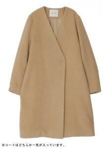 コートは選べる2カラー(キャメル)が魅力的!