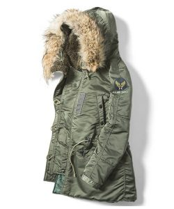 N-3B of the military jacket that length is warm for a long time!