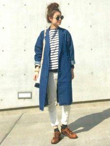 ロングデニムジャケットを羽織ればかっこよくなります!