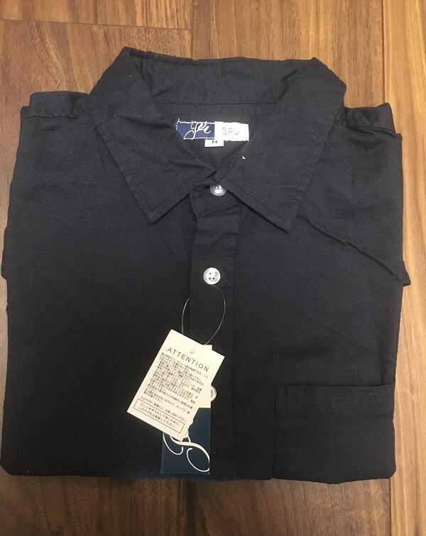 スプートニクスの綿麻シャツ7分袖