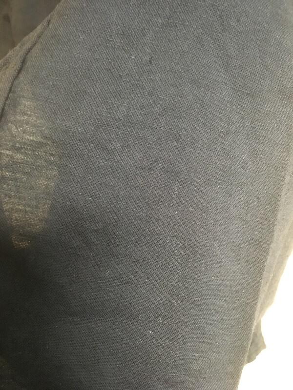 綿麻シャツ7分袖は麻なので涼しい