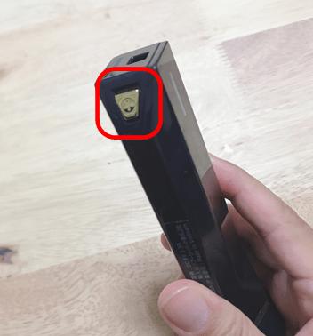 STOPVの電源ボタン